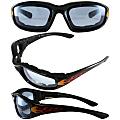 Flame Design Motorcycle Biker Glasses With Blue Shatterproof Anti-fog Polycarbonate Lenses