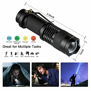 Outdoor Survival Gear - 14 in 1 Tactical Camping Tools and Gadgets Torch Flashlight