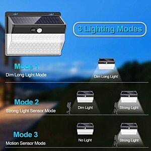 Solar Wall Lights Outdoor Cluster Lumina 206 LED