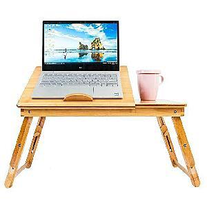 Laptop Desk Table Bamboo Folding Desktop