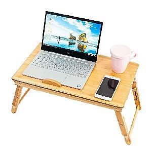 Portable Laptop Desk Table Bamboo Folding Desktop