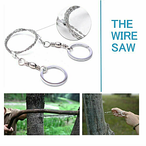 Outdoor Survival Gear - 14 in 1 Tactical Camping Tools and Gadgets Wire Saw