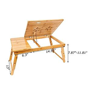 Laptop Desk Bamboo Folding