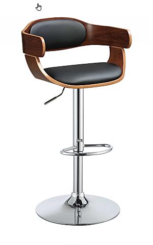 Bar Stool Chair Adjustable Swivel With Chrome Base
